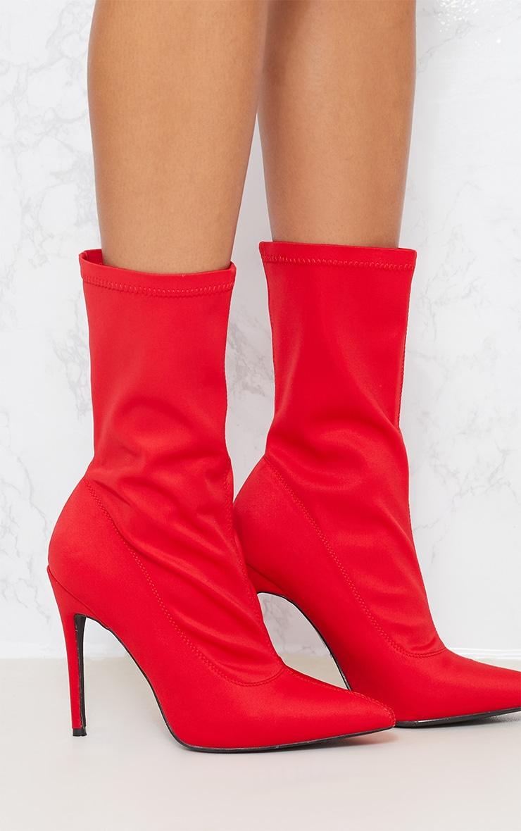 Red Lycra Sock Boot 5