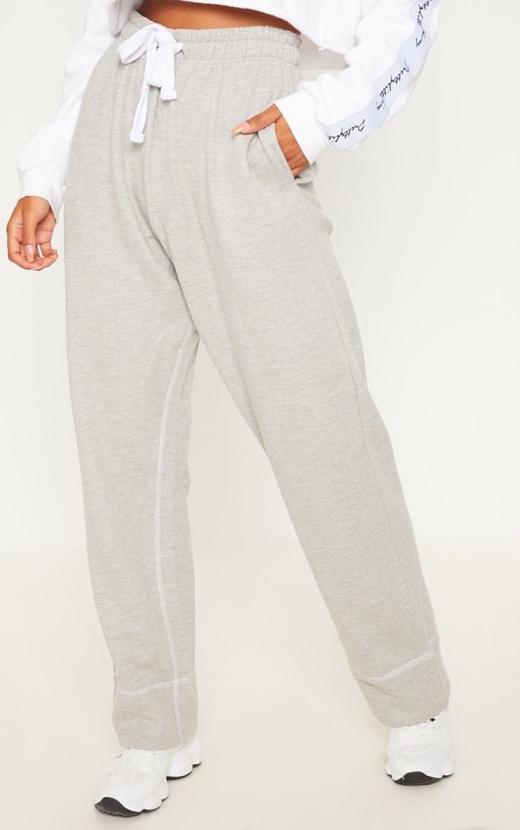 Grey Marl Drawstring Loose Fit Jogger 2