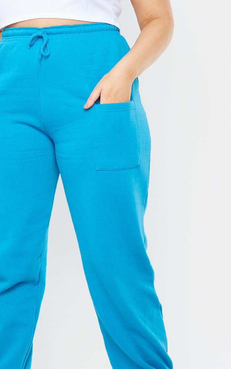 Plus Blue Pocket Thigh Casual Joggers 4