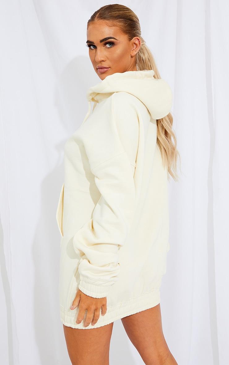 Cream Limited Edition Slogan Hoodie Sweater Dress 2