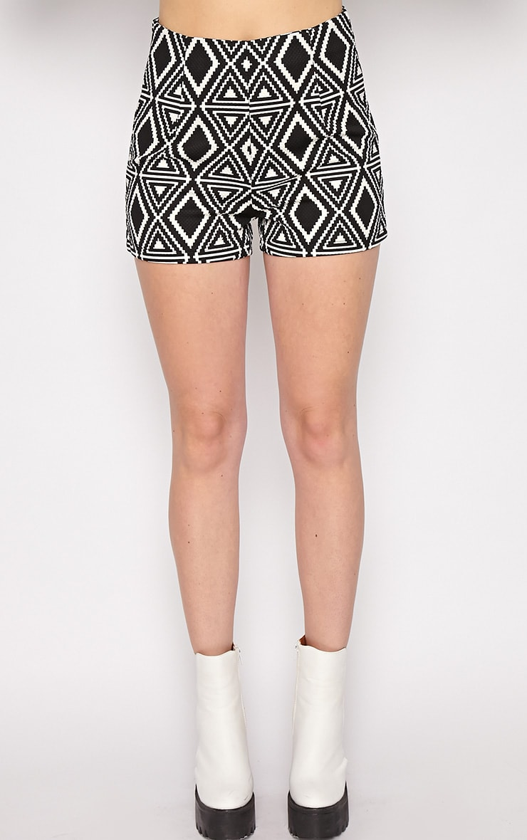 Avery Monochrome Aztec Print Shorts  3