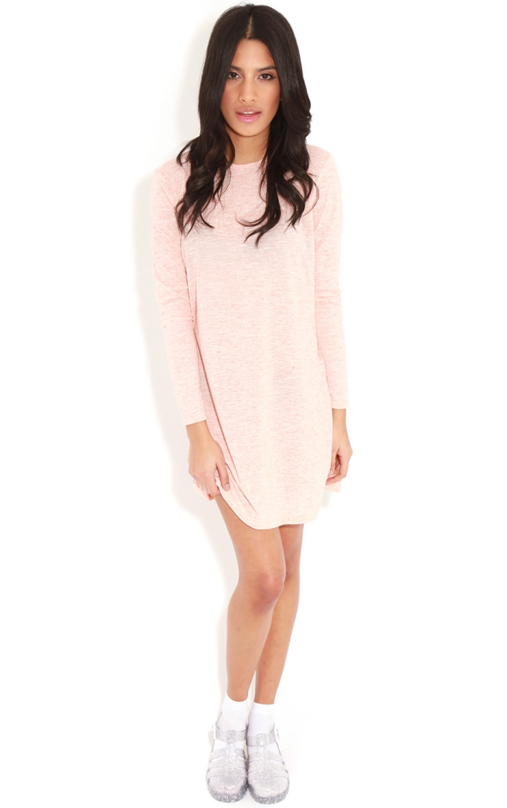 Callie Peach Long Sleeve Swing Dress 3
