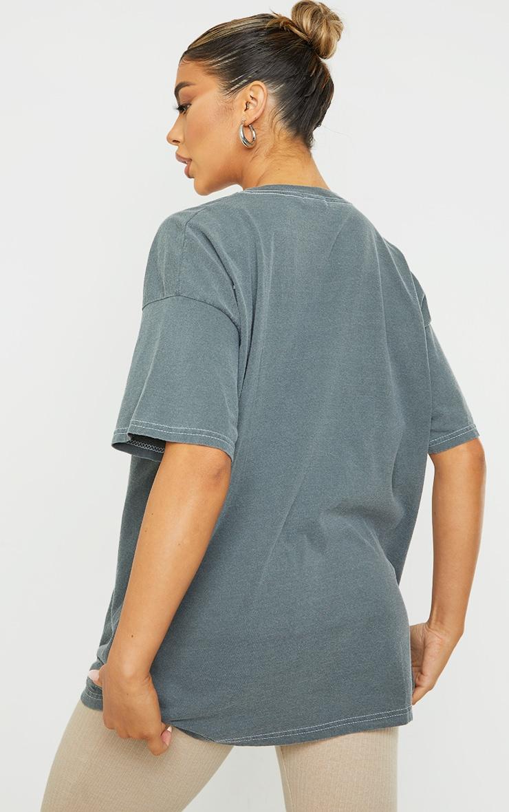 Black Montana Logo Oversized Washed T Shirt 2