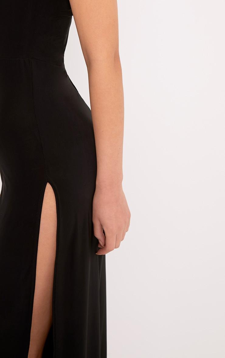 Chanice Black Thigh Split Jumpsuit  5