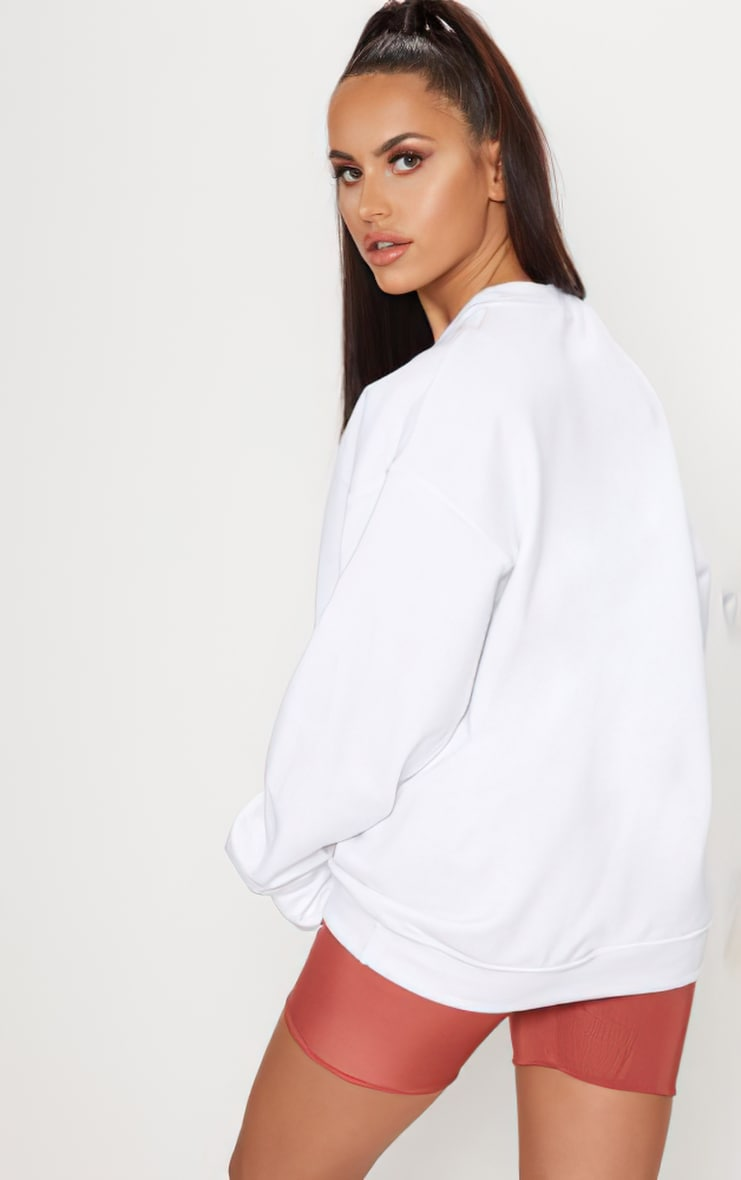 White Ultimate Oversized Sweatshirt 2