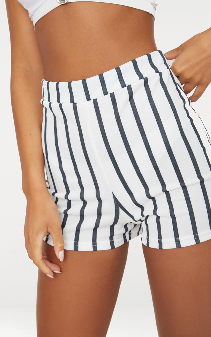 Black Stripe Suit Shorts 6