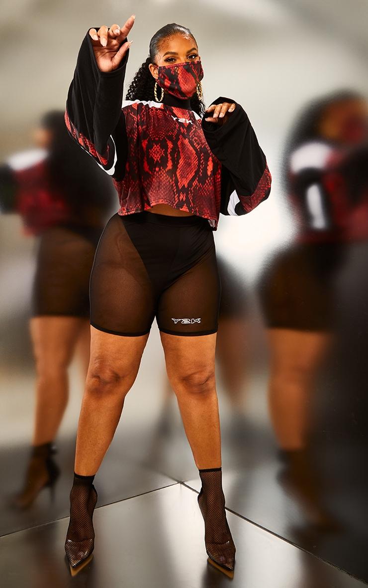 Plus Black Mesh Y2K Cycle Shorts 4