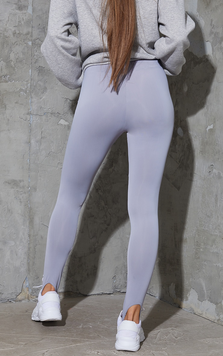Dark Grey Stirrup Gym Leggings 3
