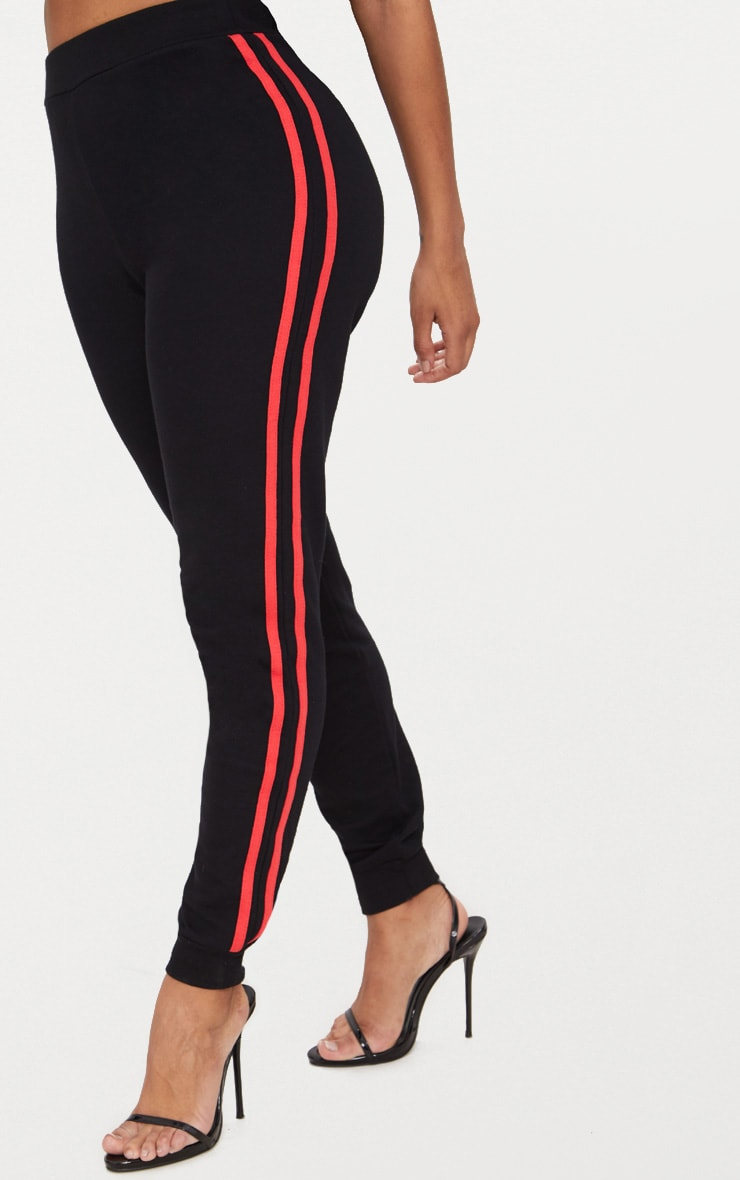 Shape  Black Side Stripe Joggers 2