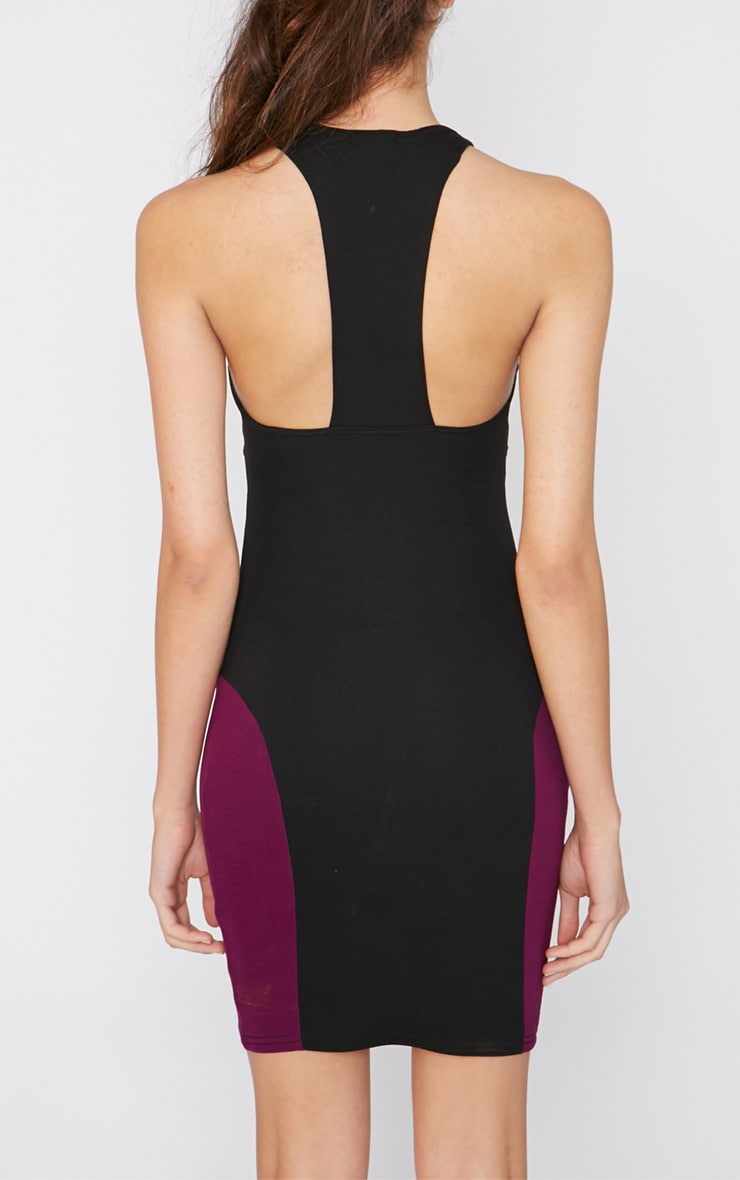 Saskia Black Panel Dress 2