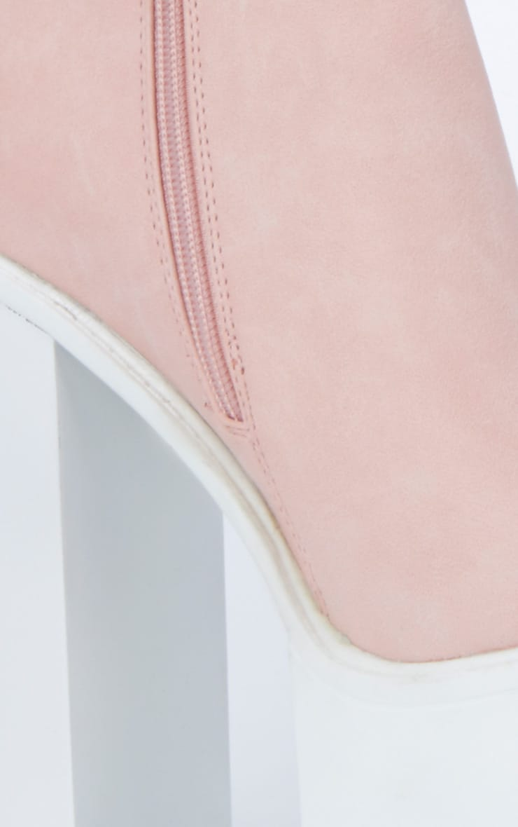 Pink Chunky Cleated Sole Chelsea Boot 2