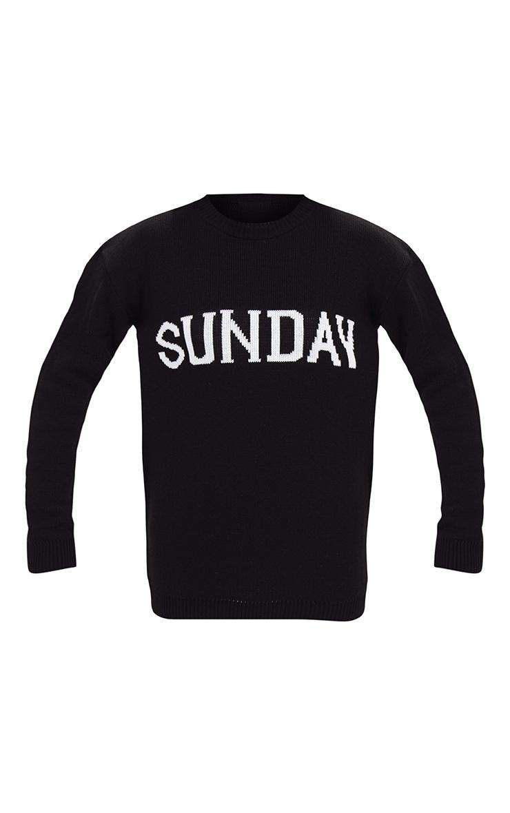 Black Sunday Slogan Jumper 3
