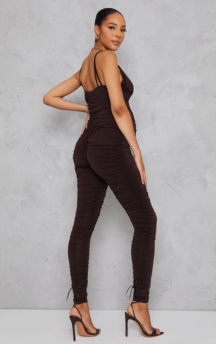 Maternity Chocolate All Over Ruched Jumpsuit 2