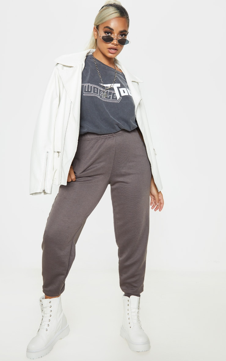 Petite Charcoal Casual Joggers 1