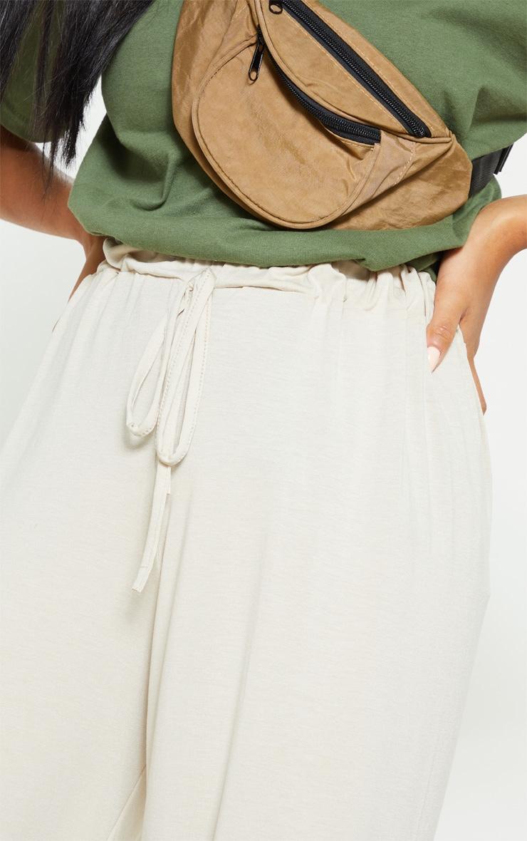 Stone Narrow Leg Tie Detail Culotte 5