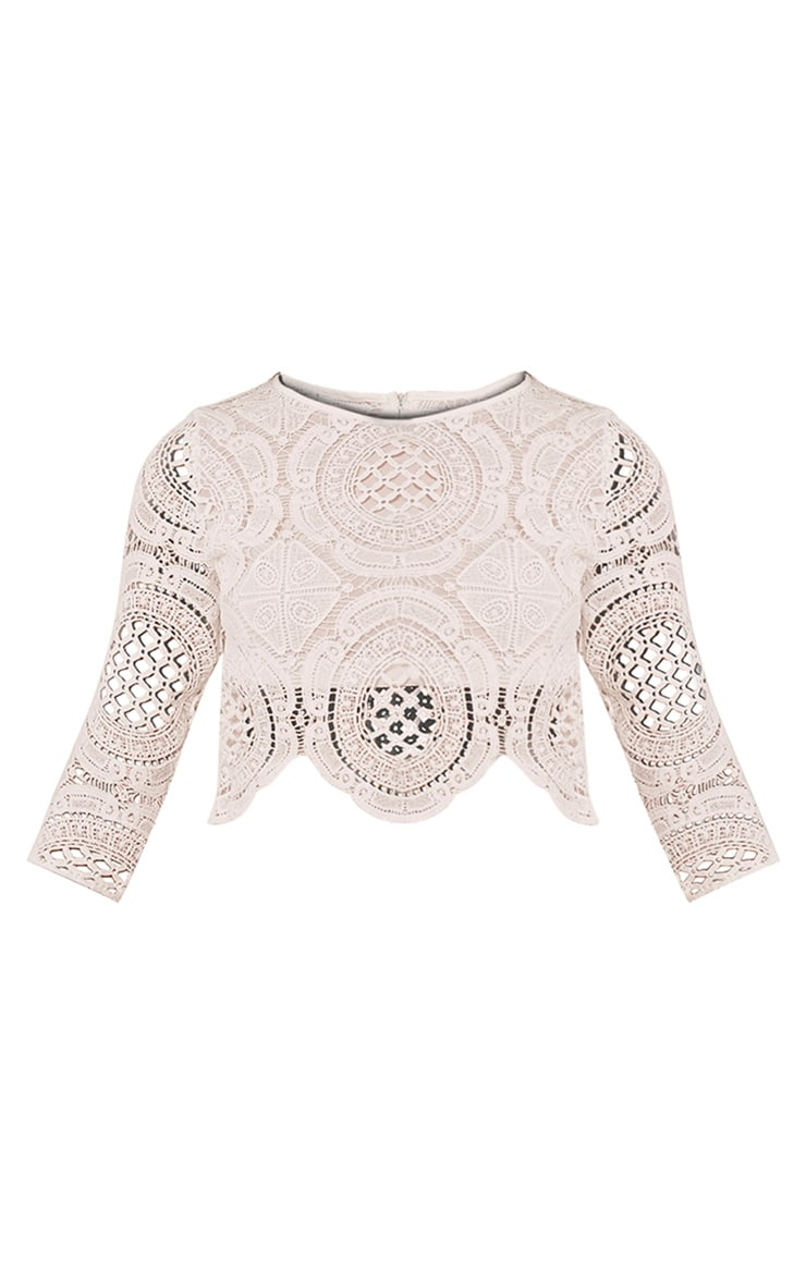 Anuskha White Embroidered Lace Long Sleeve Top 3