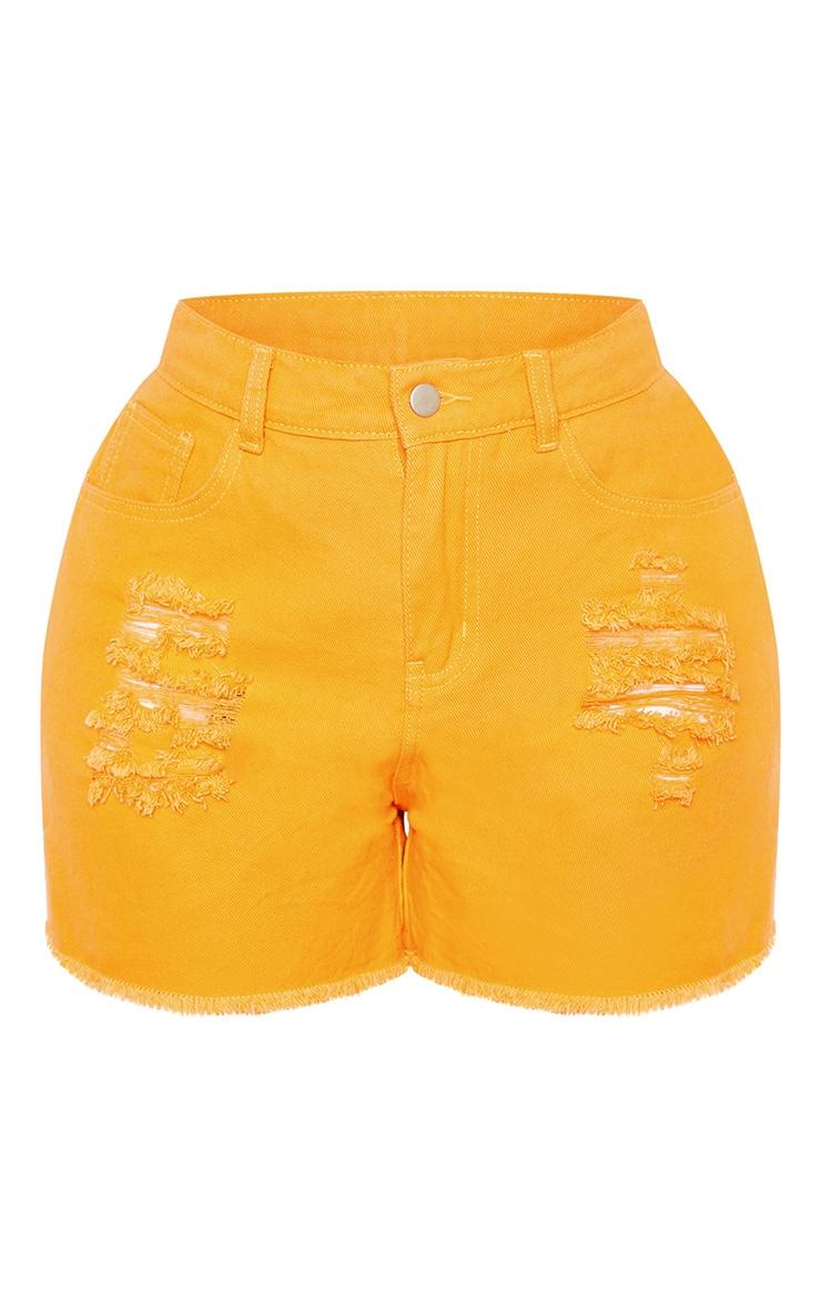 Shape Orange Bum Rip Denim Shorts 3