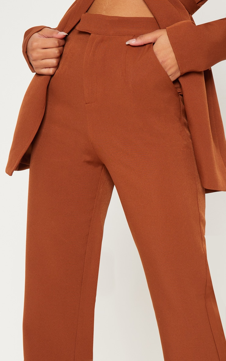 Chocolate Brown Wide Leg Trouser  5