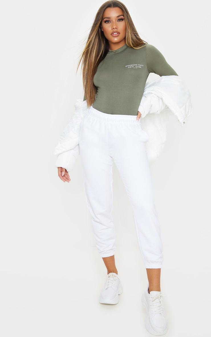 Khaki Weekend In New York Slogan Bodysuit 5