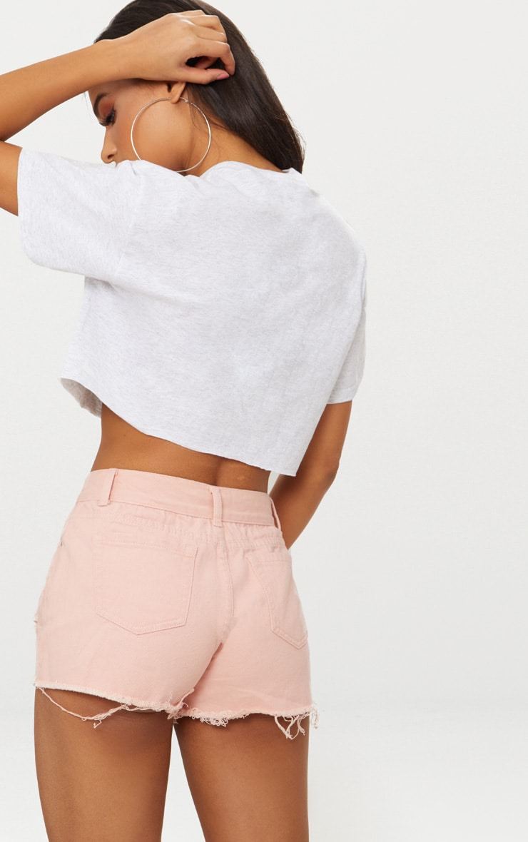 Crop top gris à slogan True Love 2