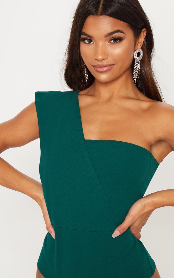Emerald One Shoulder Bodysuit 6
