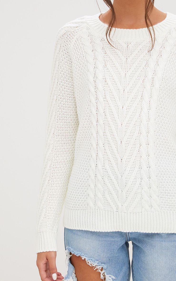 Cream Cable Knit Jumper 4