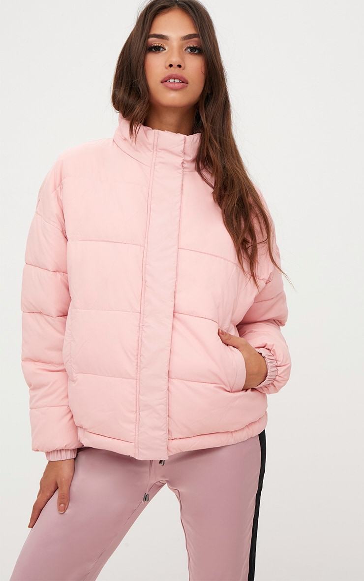 Light Pink Puffer Jacket Coats Amp Jackets Prettylittlething