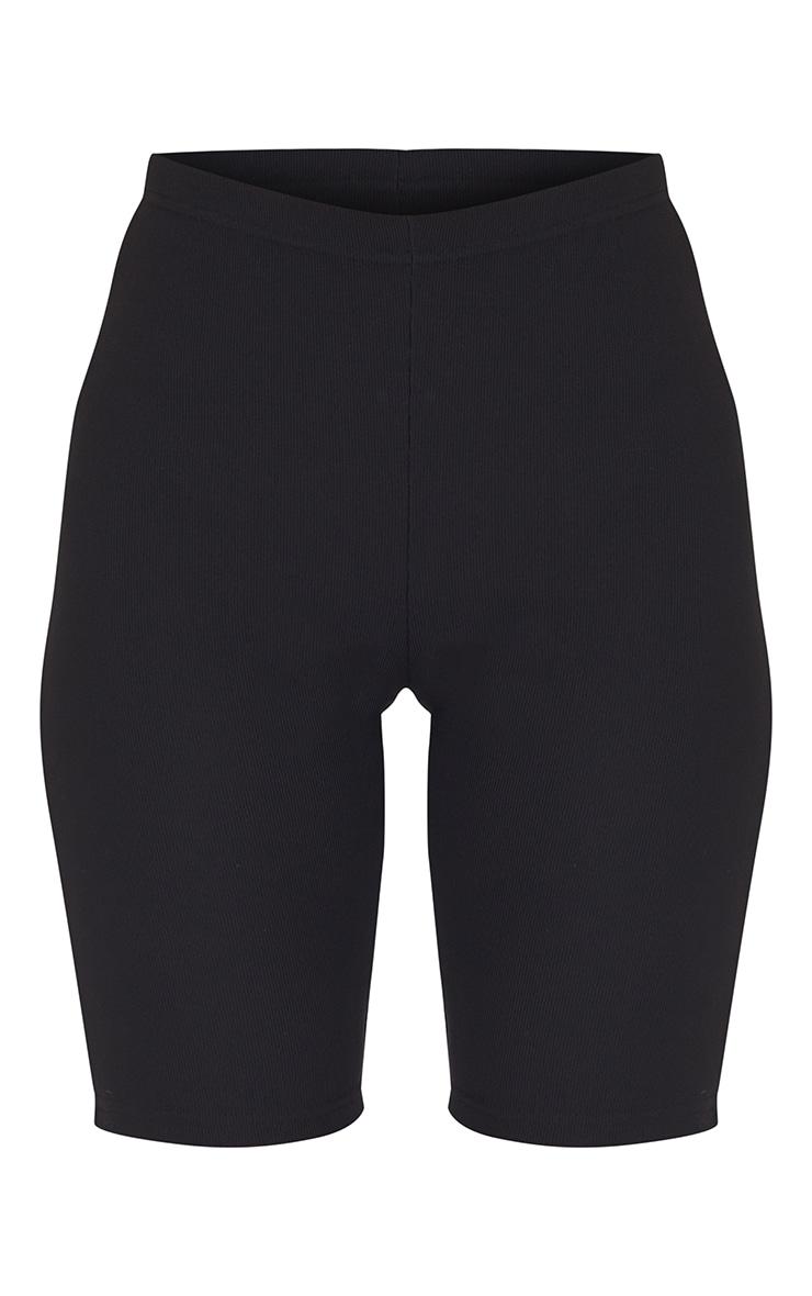Black Power Stretch Rib Cycle Shorts 6