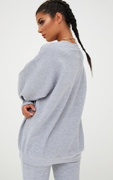 3c46a6d531128b Grey Marl Ultimate Oversized Sweater image 2
