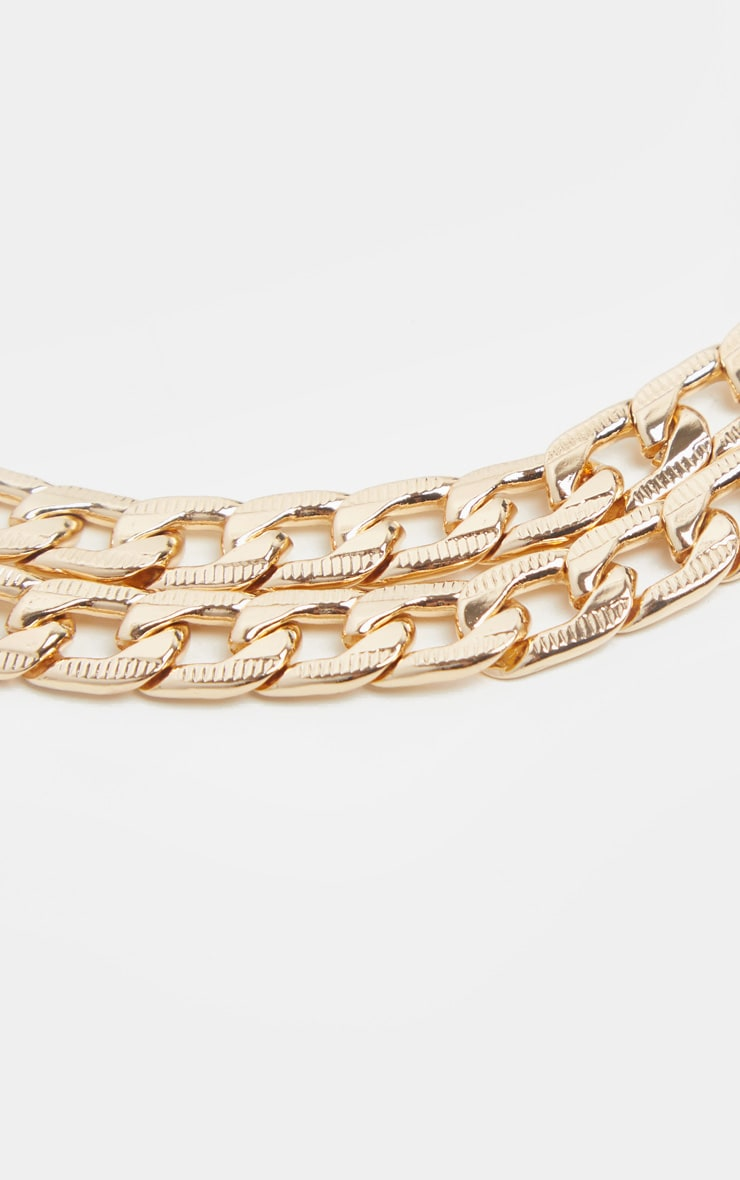 Gold Double Chain Anklet 3