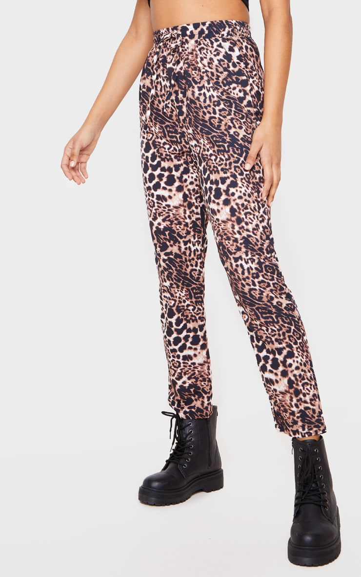 Brown Leopard Casual Pants 2