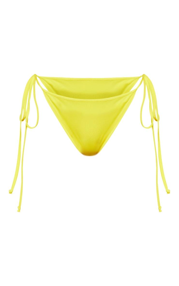 Yellow Mix & Match Tie Side Bikini Bottom 3