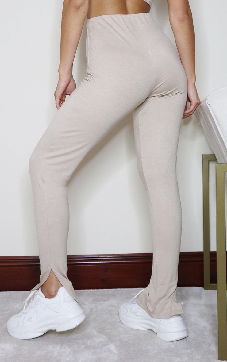 Stone Jersey Split Hem Leggings 3