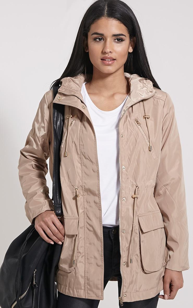 Safi Beige Hooded Coat 1