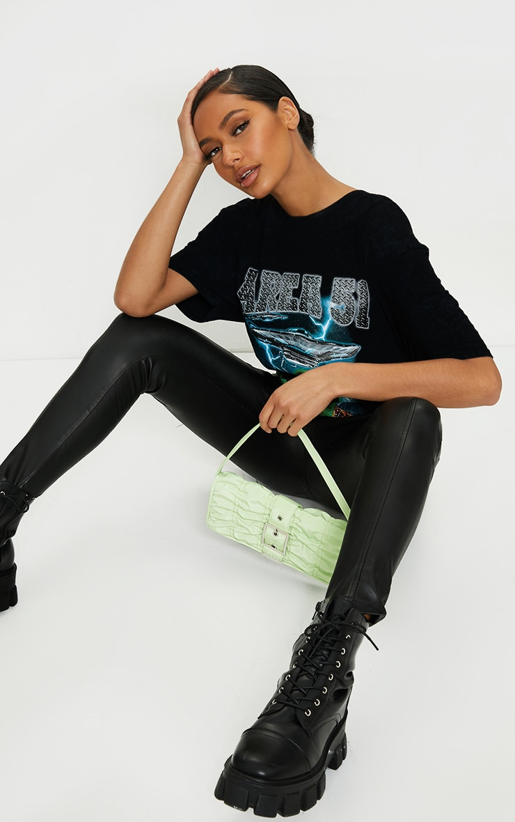 Black AREA 51 Oversized T Shirt 3