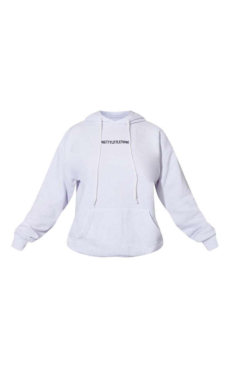 PRETTYLITTLETHING - Hoodie blanc à slogan brodé 5