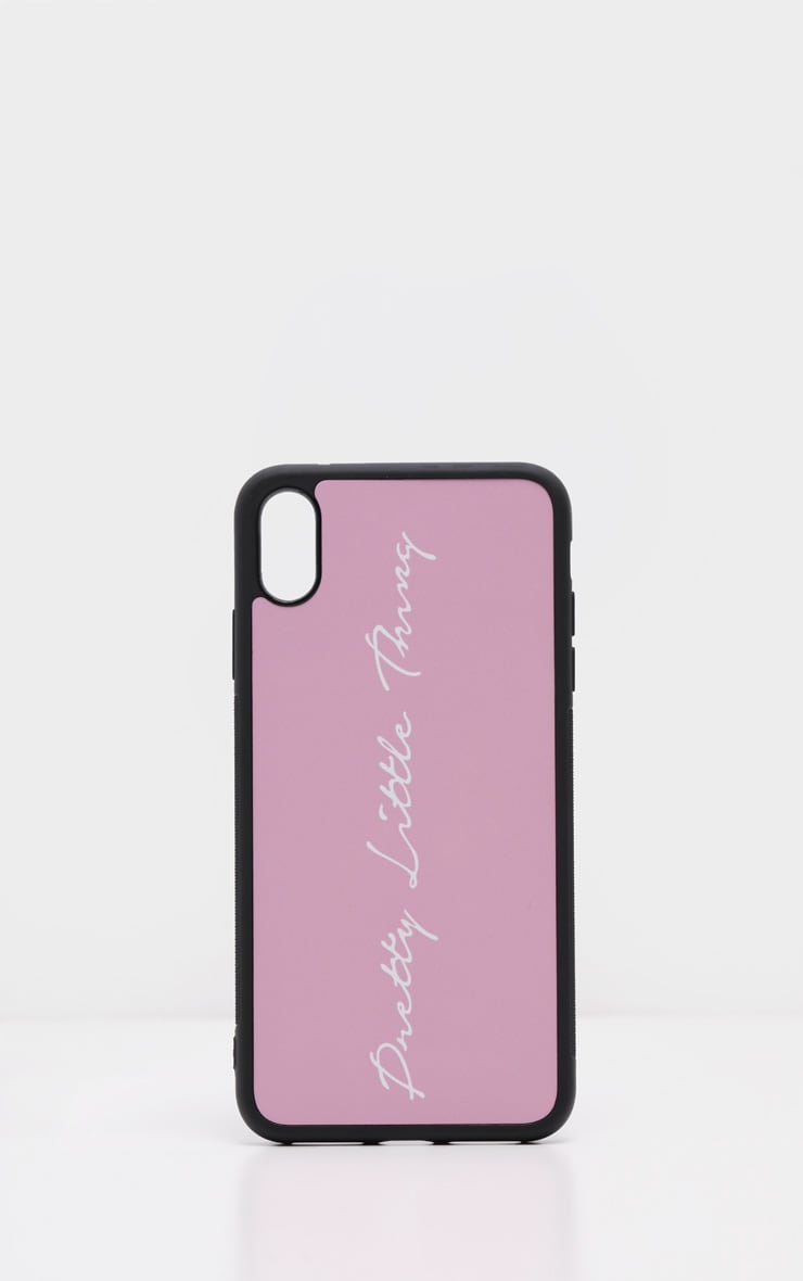 PRETTYLITTLETHING Baby Pink Scribble Logo XS Max iPhone Case 2