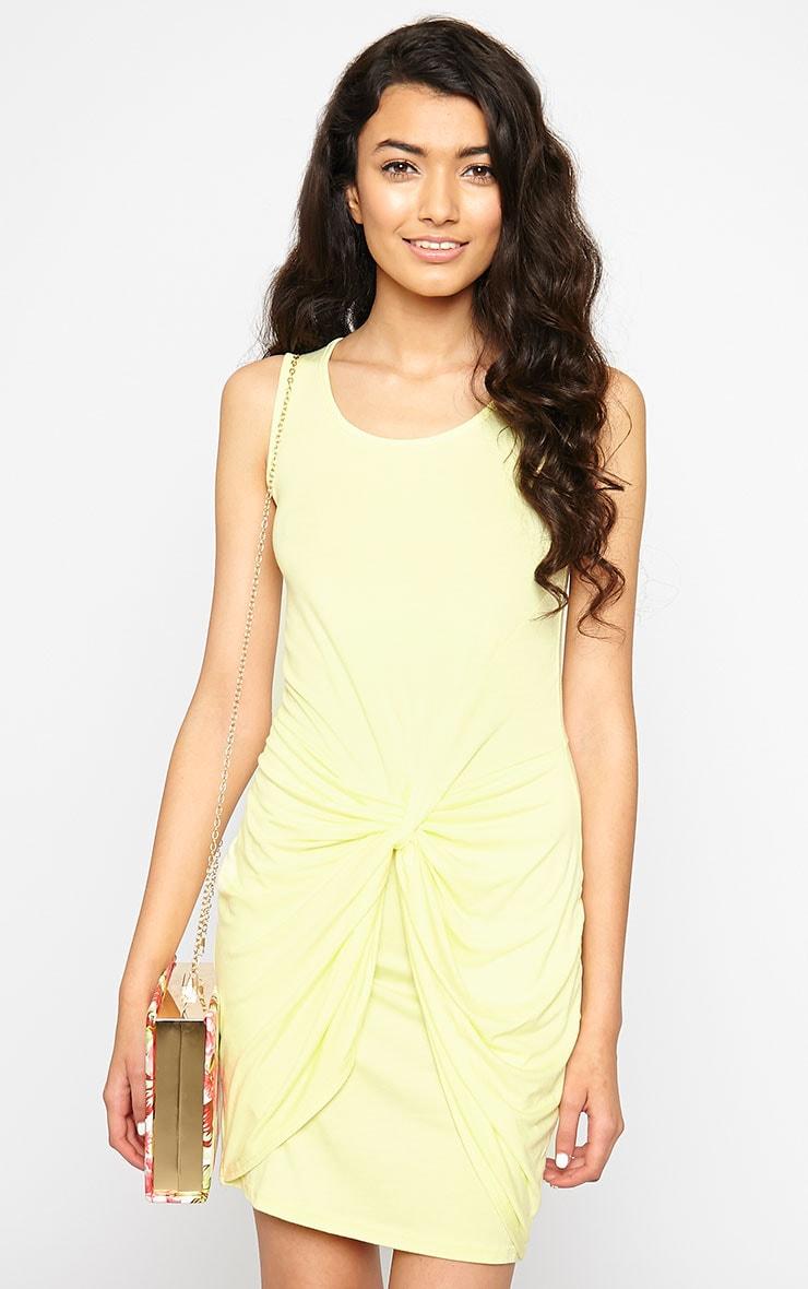 Izabella Lemon Twist Front Dress 1