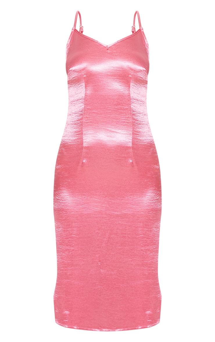 Rose Satin Slip Midi Dress 3