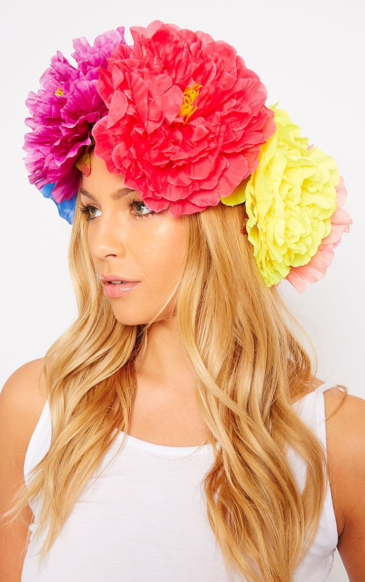 Sava Multi Colour Large Floral Hair Garland 2