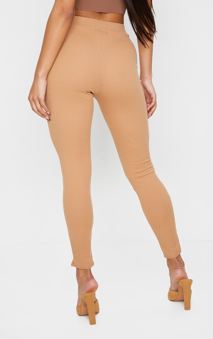 Camel Pintuck Ribbed Legging 3