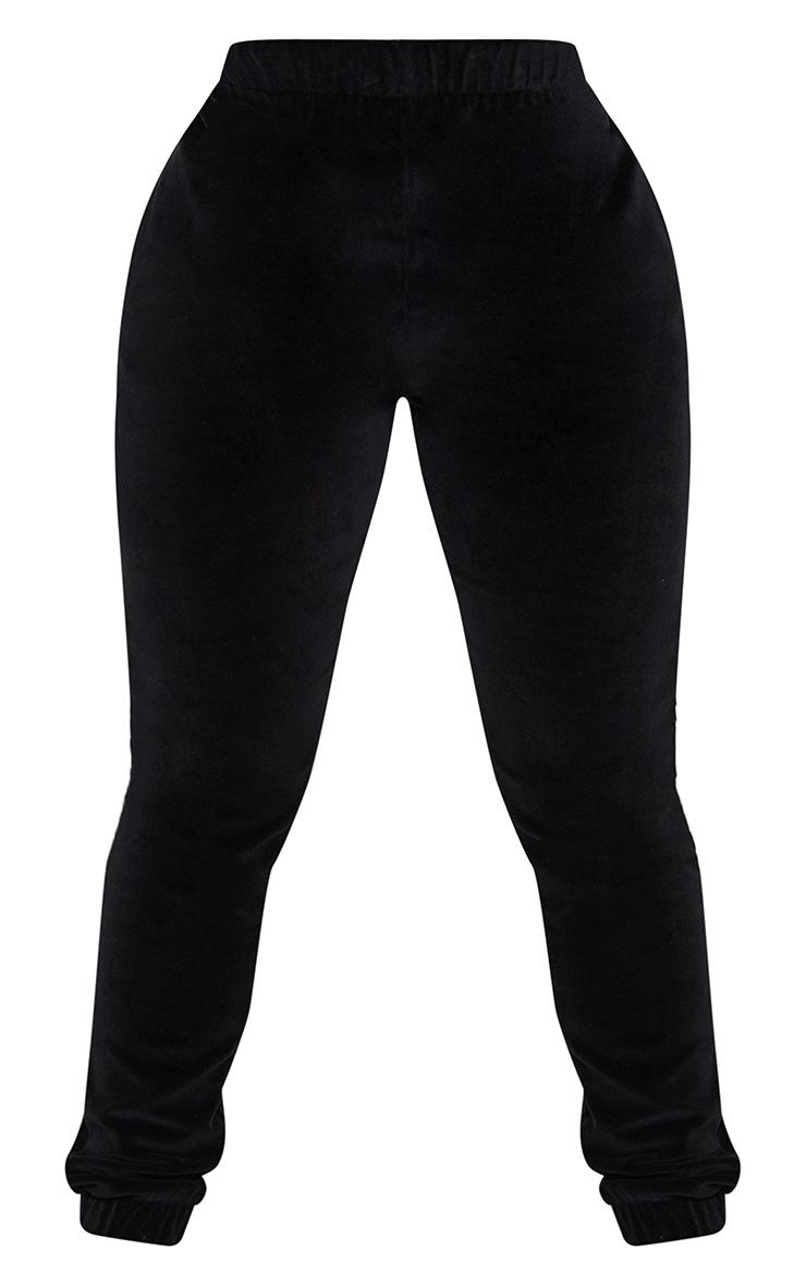 Shape Black Velour Joggers 5