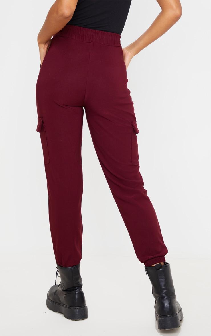 Wine Cargo Pocket Pants 4