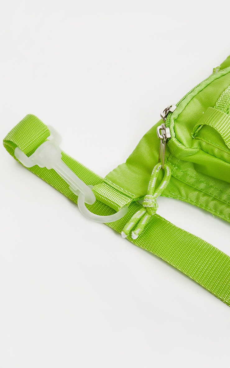 Lime Nylon Mini Utility Front Bag 4