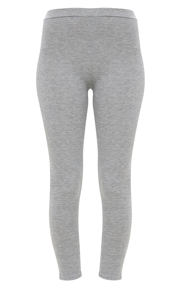 Grey Marl Ultimate Jersey High Waisted Leggings 2