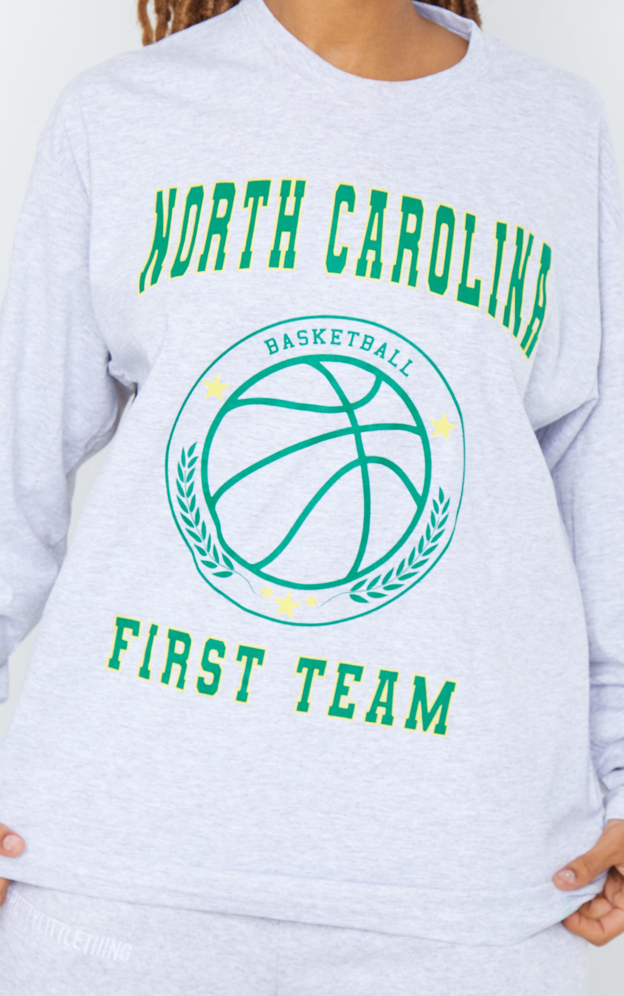 Grey North Carolina First Team Printed Long Sleeve T Shirt 4