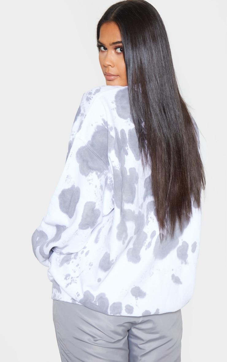 Grey Acid Wash Oversized Sweater 2