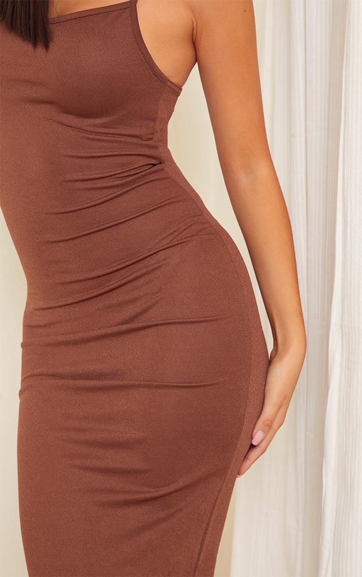 Petite Chocolate Strappy Midi Dress 4