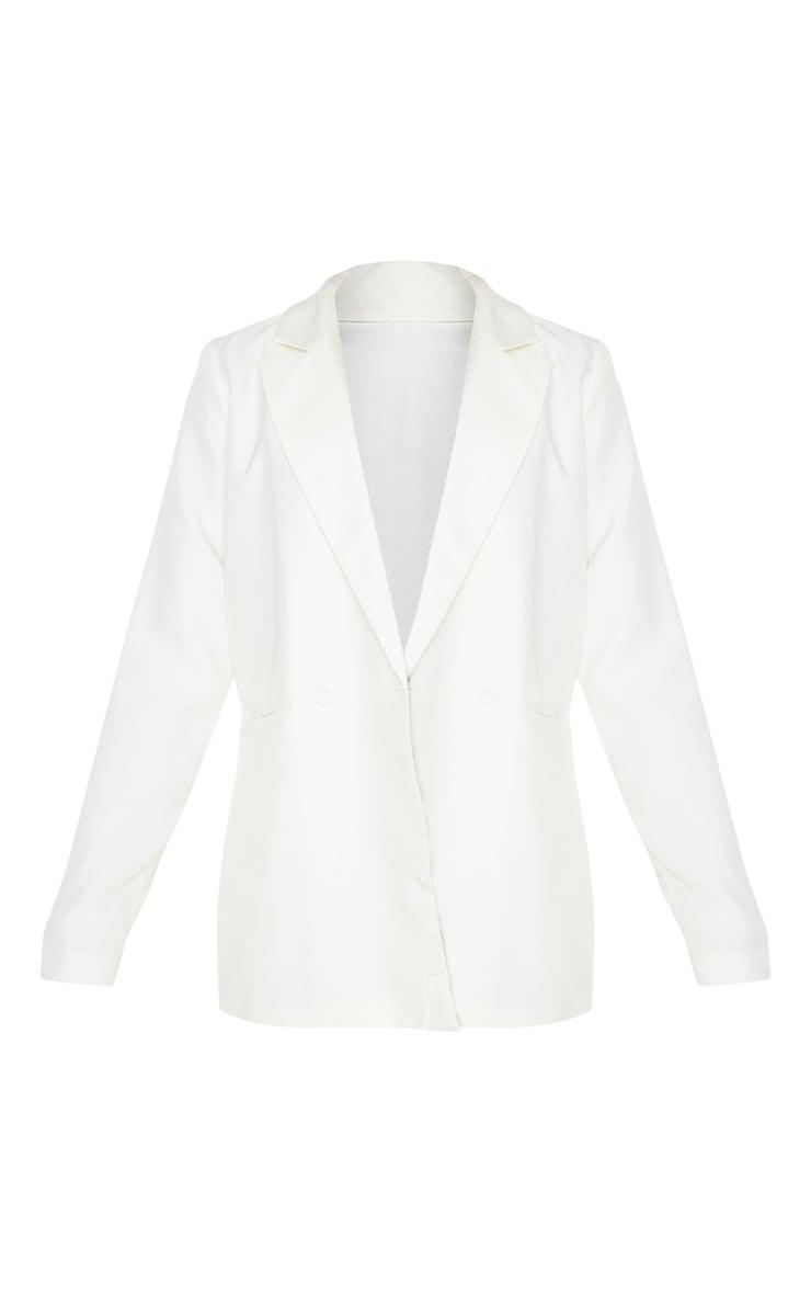 Tall Cream Oversized Relaxed Blazer 3