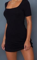 Black Square Neck Shift Dress 4